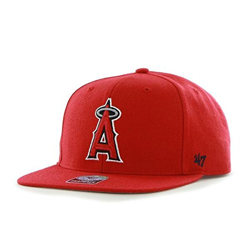 '47 Brand Los Angeles Angels Sure Shot Mens Snapback Hat B-SRS04WBP-RD Red OneSize M US