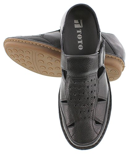 TOTO - X5812-2.6 inches Taller - Height Increasing Elevator Shoes-Black Open-Toe Sandals ZM44bP