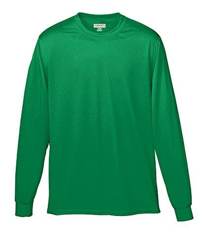 Augusta Sportswear Men's Wicking Long Sleeve t-Shirt, Kelly, X-Large