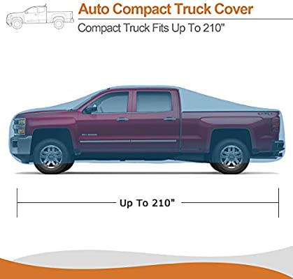 XCAR 5 Layers Truck Cover Windproof Dustproof UV Car Cover for Pickup Trucks All Weather Protection Fits up to 210