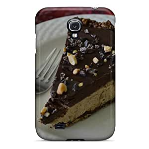 Galaxy S4 Case Cover - Slim Fit Tpu Protector Shock Absorbent Case (chocolate Layers Cream Pie)