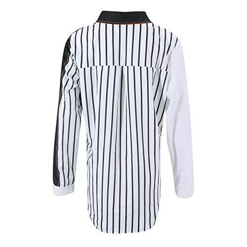 Manche Blouses et Femme V Grande Chemise Ray Shirt Casual Blouse Tops Longue Femme Imprim G Tee Col Shirt Taille Femme Multicolor Blouse Weant Chemisiers RqHAR5p