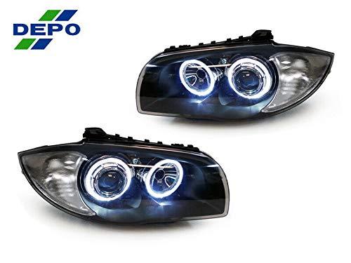 E88 DEPO V2 1 SERIES ANGEL EYES HEADLIGHTS WHITE LED RINGS 1ER E81 E82 E87