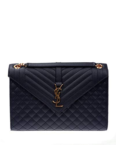1c171468e49 Saint Laurent Monogram YSL V-Flap Large Tri-Quilt Envelope Chain Shoulder  Bag -