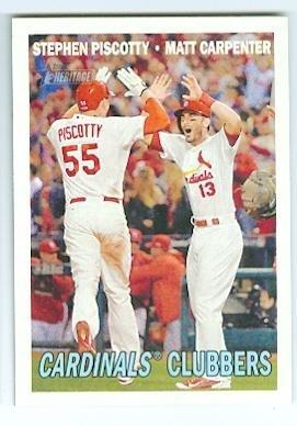 Stephen Piscotty and Matt Carpenter baseball card (St Louis Cardinals) 2016 Topps #63 by Autograph Warehouse