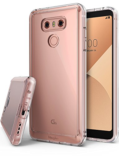 Ringke [Fusion] Compatible with LG G6, LG G6 Plus Case Dual Layer Crystal PC Panel Easy Grip Premium TPU [Original LG Look] Natural Sensitivity Squeezable Functionality Hard Shell Cover - Clear