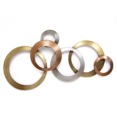 Stratton Home Decor Multi Metallic Rings Wall Decor, (Metallic Wall)