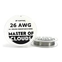 25ft. Kanthal A1 Resistance Wire 26 AWG Gauge 25' Lengths by Master Of Clouds