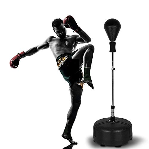 Bigzzia Punching Bag with Stand Freestanding Boxing Ball Reflex Bag Height Adjustable Speed Bag for Adult and Kids…