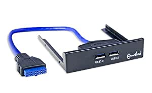 "Connectland Internal 3.5"" Front Open Bay USB 3.0 Hub with 19 Pin Header Components Other (CL-HUB20113)"