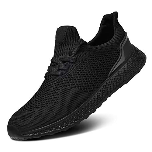 RELANCE Men Running Shoes, Lightweight Athletic Shoes for Workout Training Tennis Jogging Sport Shoes Footwear, 036# (10, Black)