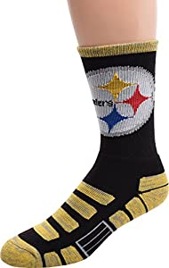 Pittsburgh Steelers For Bare Feet NFL Patches Team Socks Large from For Bare Feet
