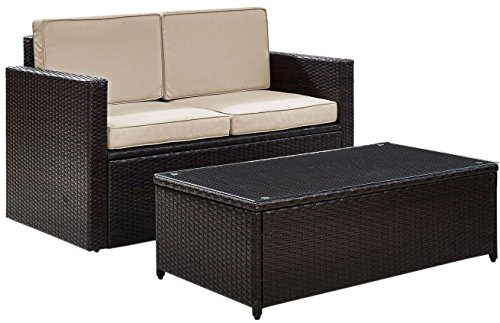 Crosley KO70002BR-SA Palm Harbor 2-Piece Wicker Seating