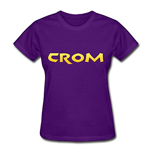 CROM Hot Topic T-shirt For Women - XS Short-Sleeve Purple