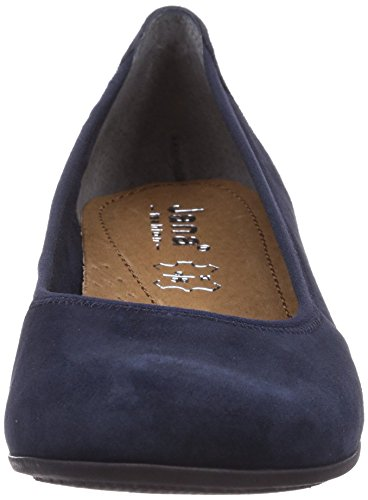 Jana 22202 - zapatos de tacón cerrados de cuero mujer azul - Blau (NAVY SUEDE)
