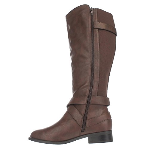 Womens Sodi Toe Thalia Closed Boots Knee Vada Fashion Cognac High T5ZfwHfqdx