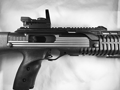 Tejas Products Hi-Point Carbine Self Adhesive Decorative 2 Piece Sticker Set - American Flag Design - Silver