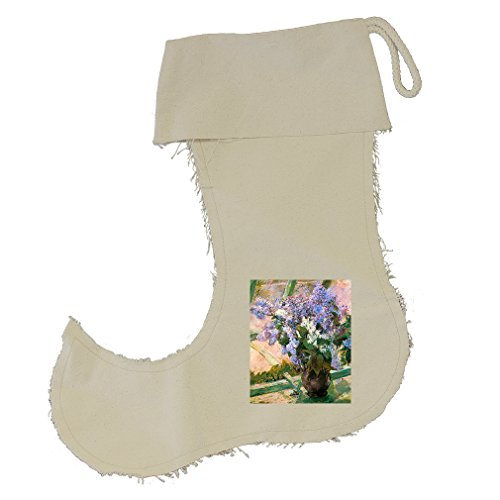 Flowers In The Window #1 (Cassatt) Cotton Canvas Stocking Jester - Large by Style in Print (Image #1)