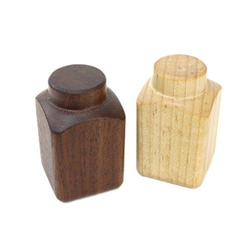 (Camden Rose Wooden Salt & Pepper Set)