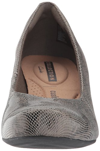 Clarks Womens Flores Tulip Wig Pump Stone Snake