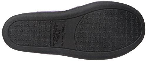 Velour Closed Microfiber Dearfoams a Plush Women's with Slip Purple Outsole Slipper – Durable Padded Smokey Back Ons 745 pqqxUEw5