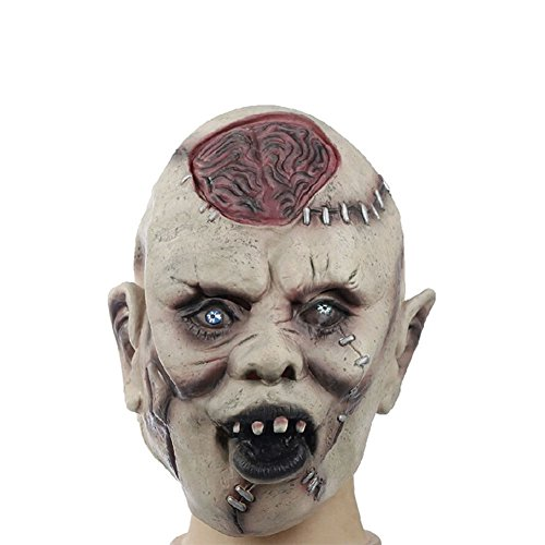 Creaon 1pcs Halloween Horrible Terrorist mask Masquerade Costume Latex Headgear Ghost Horror Cosplay Prop]()