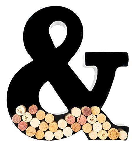 Wine Cork Holder - Metal Monogram Letter (&)