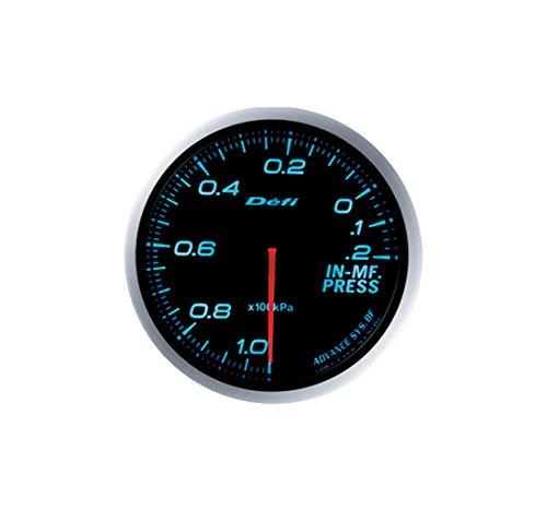 Defi DF04902 Link Meter BF Imperial Intake Manifold Pressure Gauge, Amber, 60mm