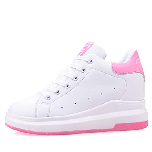 Pink Fashion Wedge Pallacanestro Donna Primavera Creepers con Shoe zeppa Jrenok Cressed Sport tgPxzfw7q