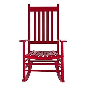 Shine Company 4332CP Vermont Porch Rocking Chair, Chili Pepper
