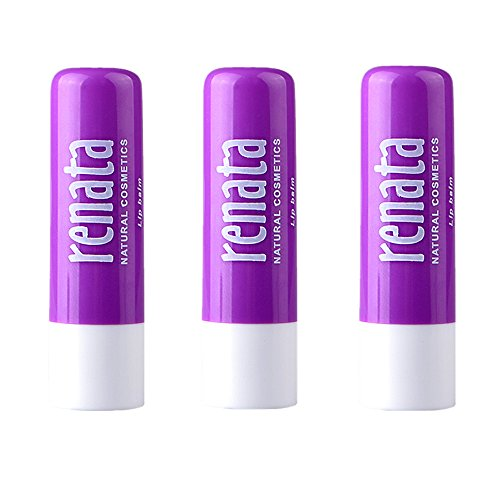 Sunherb lavender Pure natural plant moisturizing lip balm 3 Pack –- Chapstick for Dry Lips, Colorless Lip Moisturizer