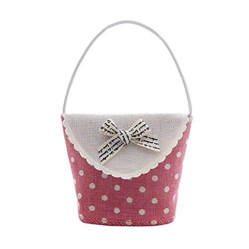 OULII Cute Basket Shaped Candy Gift Bags Mini Present Pouches for Baby Shower Birthday Wedding Party Suppliers