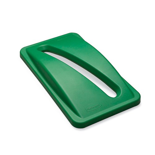 Slim Jim Paper Recycling Container - Rubbermaid FG270388GRN 4555312 Paper Slot Lid for Slim Jim Recycling Container, Green