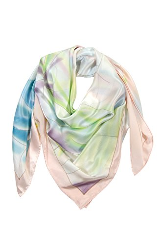 TexereSilk Women's 100% Silk Hand Painted Scarf (Multicolor, Unisize) Luxury Gifts for Her (Mtc Multi Color)