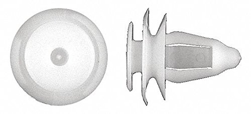 Solid Push In Rivet, Nylon, 8mm Dia, 15mm L, 8mm, White