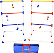 GoSports Premium Ladder Toss Outdoor Game Set with 6 Bolo Balls, Travel Carrying Case and Score Trackers - Cho