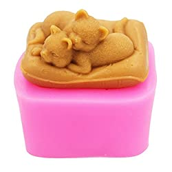 Longzang Cat mould S298 Craft Art Silicone Soap mo