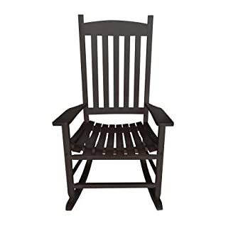 Sensational Mainstays Black Solid Wood Outdoor Rocking Chair Creativecarmelina Interior Chair Design Creativecarmelinacom