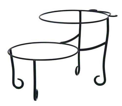 Pizza Tray Stand - American Metalcraft TLSP1219 Wrought Iron Pizza Stand with Curled Feet, Two-Tier, 12