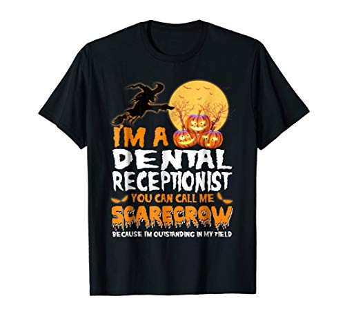 Dental Receptionist Scarecrow Halloween Ninja Job T-shirt -