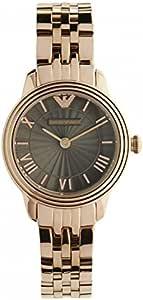Emporio Armani Retro Women's Grey Dial Stainless Steel Band Watch - Ar1719, Analog Display, Quartz Movement