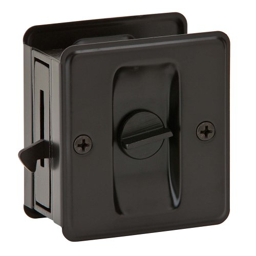 Ives by Schlage 991B-613 Sliding Door Pull (Nickel Pocket Door Lock)