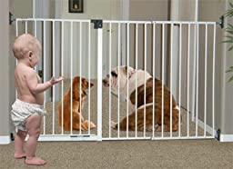 Imperial Long Pet Gate – Solid Wall Mount Design - used as Pet or Baby Gate