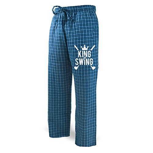 King of Swing Lounge Pants   Golf Apparel by ChalkTalk SPORTS   Blue with White   Adult (Golf Lounge)