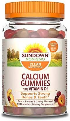 Sundown Calcium Plus Vitamin D3 Gummies, 50 Count (Pack of 3)
