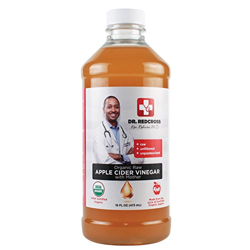 Bottle Cider Apple (Dr. Ken Redcross, MD - Organic Raw Apple Cider Vinegar with MOTHER | Certified USDA Organic, Non GMO, Vegan ACV | Raw, Unfiltered, Unpasteurized | 16 fl oz (473 mL))
