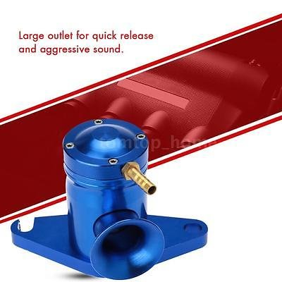 FidgetGear Top Mount Turbo BOV Blow Off Valve for Subaru WRX 02-07 Blue (Wrx Top Mount)