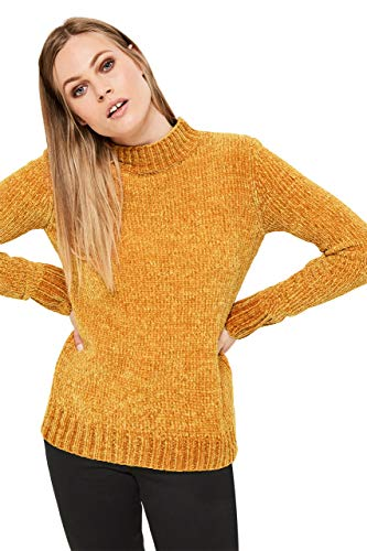 Long Tall Sally Tall Womens Chenille Turtleneck Sweater in Orange