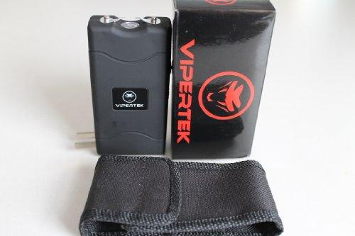 Vipertek Vts-880 Black 15 Million Volt Rechargable Mini Stun Gun with LED Light and Holster