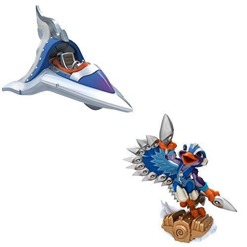 Skylander Superchargers Figures. Includes Sky Slicer and Stormblade. Epic Adventures Await with This Pack of Figures for Skylanders Superchargers.